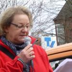 ver.di-Geschäftsführerin Gudrun Müller