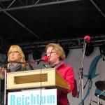 Gudrun Müller, ver.di, Hiltrud Fischer Gebärdendolmetscherin